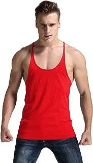 YAKER Men's Fitness Gym Tank Top Singlet Bodybuilding Stringers Sleeveless Muscle Shirt