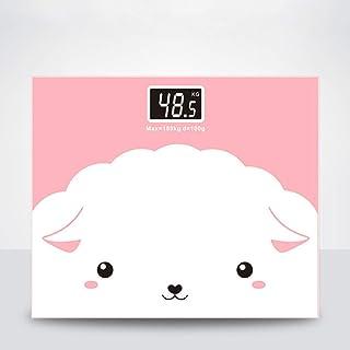 MHBY Báscula de Peso, Báscula de Grasa Corporal Cute Cartoon Floor Science Smart Electrónica LED Báscula de Peso Digital Báscula de baño de Vidrio Pérdida de Peso 180KG Báscula de baño