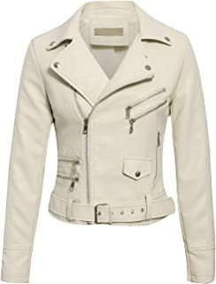 BerryGo Women's Faux Leather Moto Biker Jacket Outwear Coat
