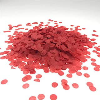 Red Confetti 10mm Tissue Paper Confetti Circles for Party Wedding Decoration 3000 pcs