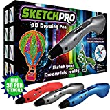 LATEST EDITION 3D Pen Kit - 3D Printing Pen, Kid Gift w/ LED Screen - Art Toy w/ FREE Art Stencils for 3D Drawing - Arts and Crafts