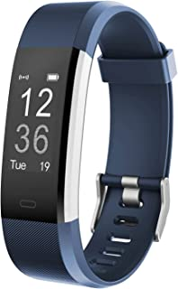 Fitness Tracker HR,Teslasz T115Plus HR IP67 Waterproof Fitness Tracker with Heart Rate Monitor Auto-Sleep Monitor 14 Kinds of Training Modes Fitness Tracker 0.96 Inches OLED Display Activity Tracker