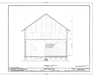 Historic Pictoric Blueprint Diagram HABS NY,11-HUD,1C- (Sheet 3 of 4) - Olana, Horse Barn, State Route 9G, Hudson, Columbia County, NY 24in x 18in