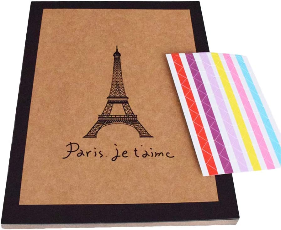 A4 Eiffel Tower Pattern Photo Ribbon Cra Nippon regular agency Scrapbook Circlip Free shipping anywhere in the nation Album