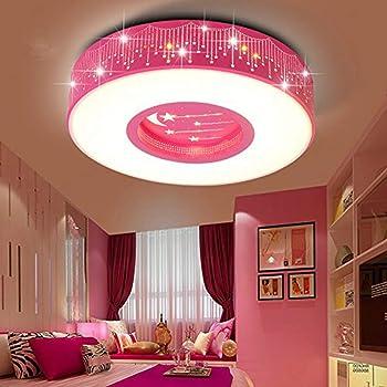 Lyxg Children S Room Light Girls Bedroom Light Ceiling Lamp Led Light Princess Warm Rooms Stars Romantic Round Lights 40cm Amazon Co Uk Lighting