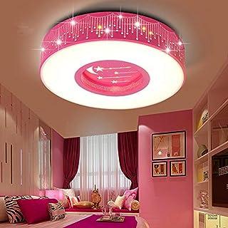 LYXG A la luz de la Sala de Niños Niñas dormitorio luz LED Luz Lámpara de techo princesa estrellas cálidas habitaciones románticas luces redondas ,40cm