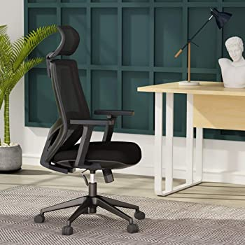 Amazon Com Lianfeng Ergonomics Office Chair Mesh Computer Desk Chair Adjustable Headrests Chair Backrest And Armrest S Mesh Chair Black Office Products