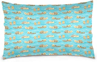 Pillow Covers Soft Lazy Otter Pillowcases with Hidden Zipper for Couch Living Room Sofa Bedroom Decorative 20 X 30 inch