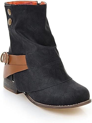 Sandalette-DEDE MesLes dames Les Bottes, Bottes, Bottes pour Les Les dames, Faible Tube Bottes, Ceinturon de Bottes,noir,Quarante - Quatre