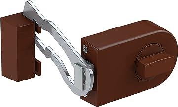 Basi- deurgrendel met hoekrand 1303-0205 KS 500 met deurbescherming 60 mm Bruin
