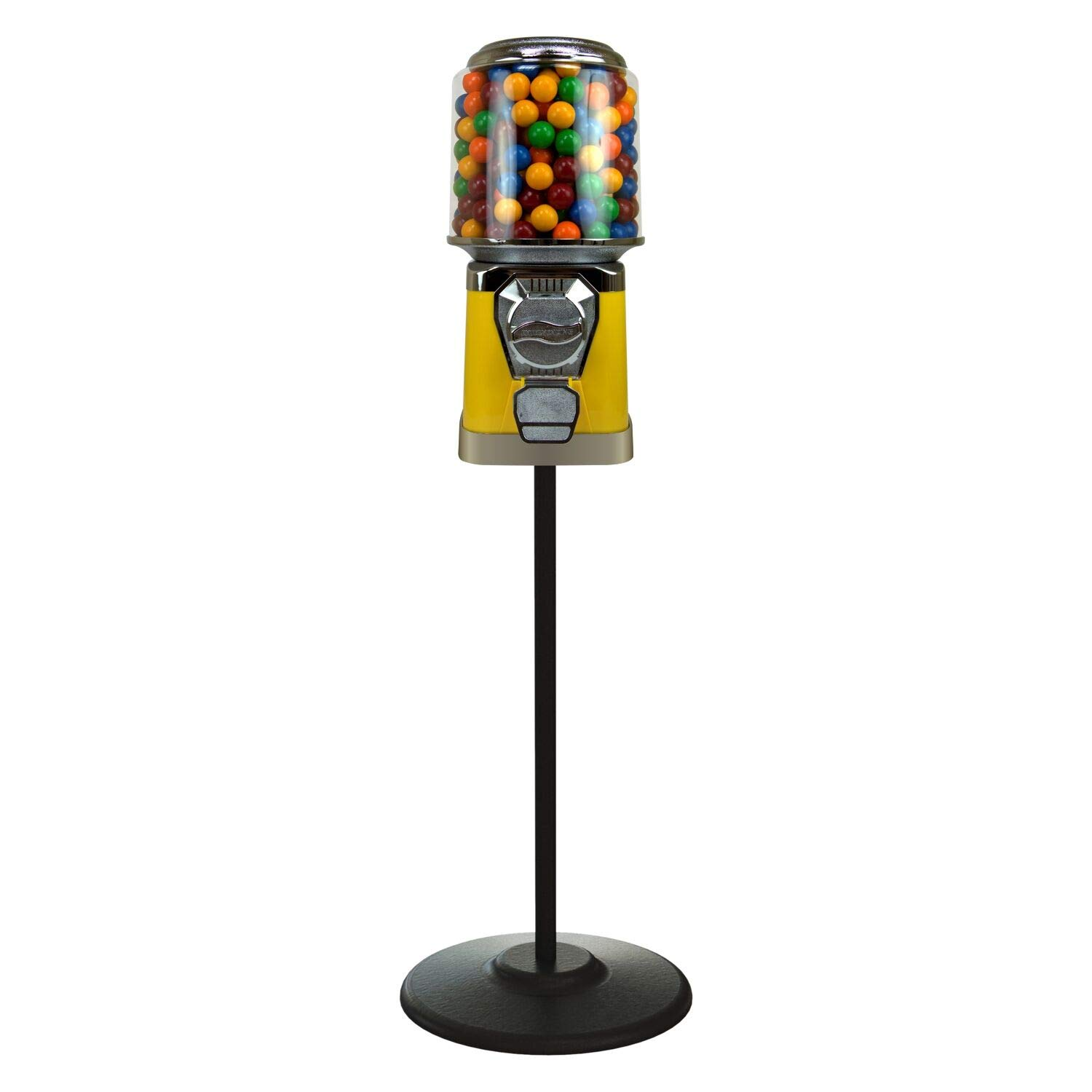 Gumball Max 44% OFF Machine with Stand Virginia Beach Mall - Vending Yellow Bundled Home
