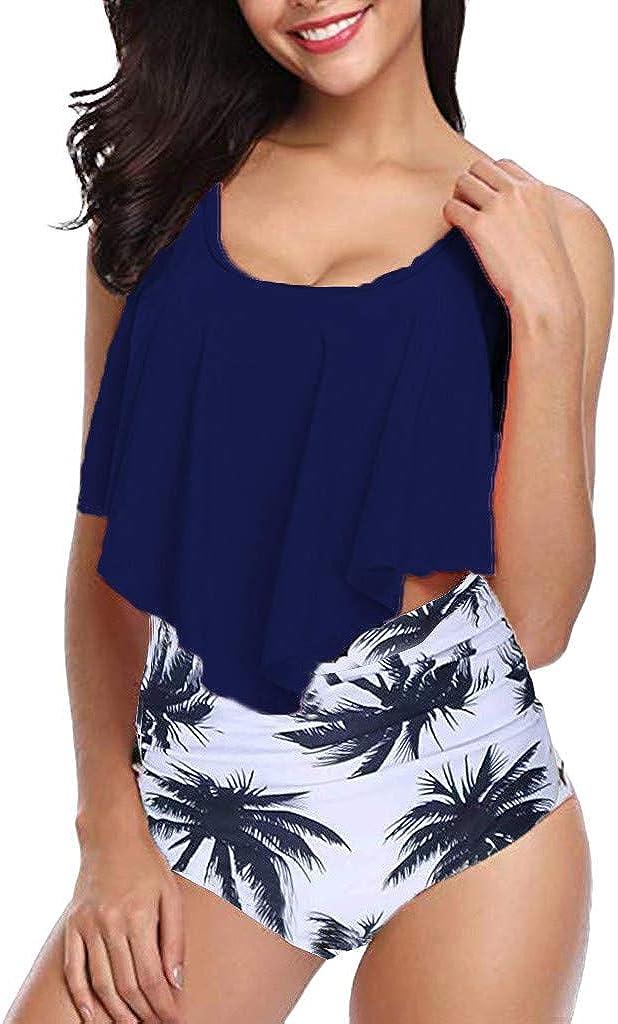 Yxiudeyyr Women Plus Size Bikini High Waisted Swimsuit Two Piece Bathing Suit Top