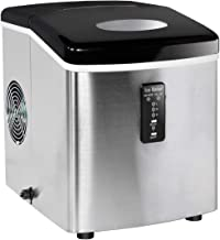 Smad Countertop Ice Maker Stainless Steel Ice Making Machine, Fast Ice Making in 6-12 Minutes,28-33lbs/24h,3.2L Water Tank,3 Size Ice Cubes