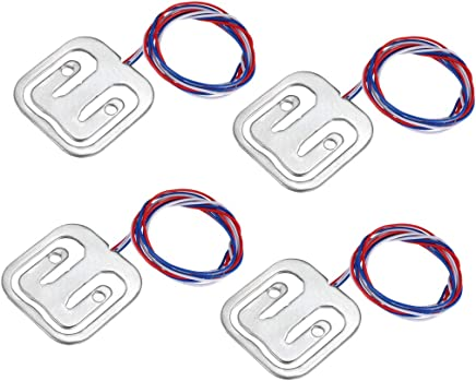 uxcell 3kg Weigh Sensor Thread Hole Half-bridge Resistance Strain Body Weighing Load Cell Pack of 4