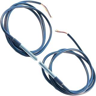 AZDelivery 2 x 1m Cable DS18B20 Sensor de Temperatura Digital de Acero Inoxidable Resistente al agua compatible con Arduin...