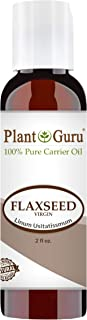 Flaxseed Oil 2 oz Virgin, Unrefined Cold Pressed 100% Pure Natural Carrier - Skin, Body And Face. Great For Psoriasis, DYI Creams, Lotions and Lip balms.