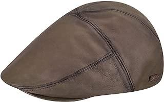 Bailey Men's Leather Glasby Cap Dark Beige