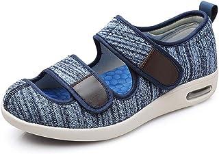 Women Swollen Slippers Adjustable Mens Diabetic Slippers Wide Fit Sandal Slip On Walking Cozy Arthritis Edema House Shoes ...