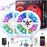 BesLowe 32.8-Feet APP Controlled Smart WiFi LED Strip Lights with Music Sync