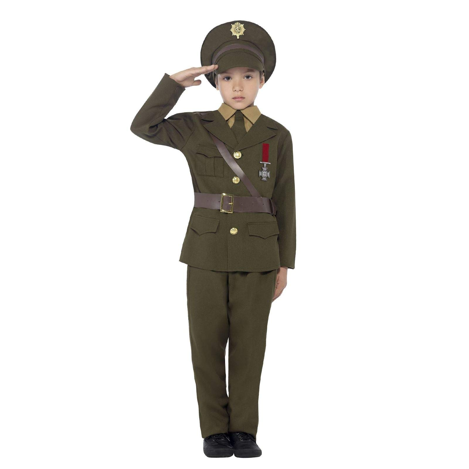 Boys Busby Guard Royal British London Soldier Fancy Dress Costume Outfit 4-12 yr