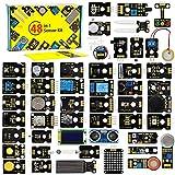 Módulo sensor Keyestuido 48 en 1, compatible con Arduino IDE con instrucciones de programación y aprendizaje electrónico para proyectos electrónicos (no incluye tarjeta controlador).