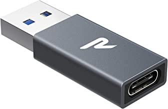 RAMPOW Adaptador USB C a USB 3.0, USB C Hembra a USB A Macho, Transmisión de Datos y Carga Rápida para MacBook, DELL, Samsung, Huawei, SanDisk Extreme 900, Google Pixel y Otros Dispositivos con USB C