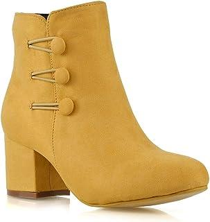 Amazon.co.uk: Yellow - Boots / Women's