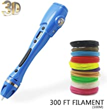 AHTOSKA Fun 3D Drawing Pen Set with 328 Ft Nontoxic 1.75 mm Filament Refills Best for Adults or Kids