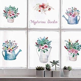 chaud fleurs et plantes stickers muraux chambre salle de bains armoires de cuisine fenêtre bricolage art stickers décorati...