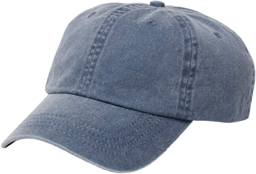 Brooks Brothers Men's Faded Cotton Baseball Cap, Chambray