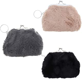 Plush Snap Coin Purse - Set of 3