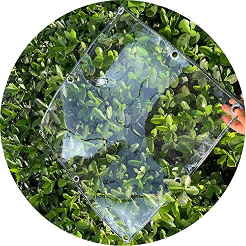 AWSAD Lonas Impermeables Exterior, Lonas Lona Cubierta Cobertizo Invernadero Cortina Lluvia PVC Hoja Toldo Transparente por Durable Resistencia al Desgarro (Color : Clear, Size : 1.6MX4M)