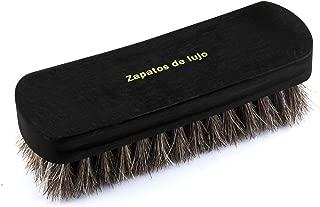 [Amposei] 靴磨き 馬毛ブラシ 革物 ブラッシング ホコリ落とし 汚れ落とし 100%天然馬毛 靴ブラシ レザーケア 革製品のお手入れに最適 携帯 出張用 ホースブラシ