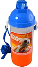 Star Wars Kids Sip & Snack Canteen with Popup Leak Proof Lid, Attached Twist Off Snack Container & Convient Carrying Strap