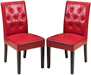 Best Selling 2-Piece Sentry Dining Chair, Red