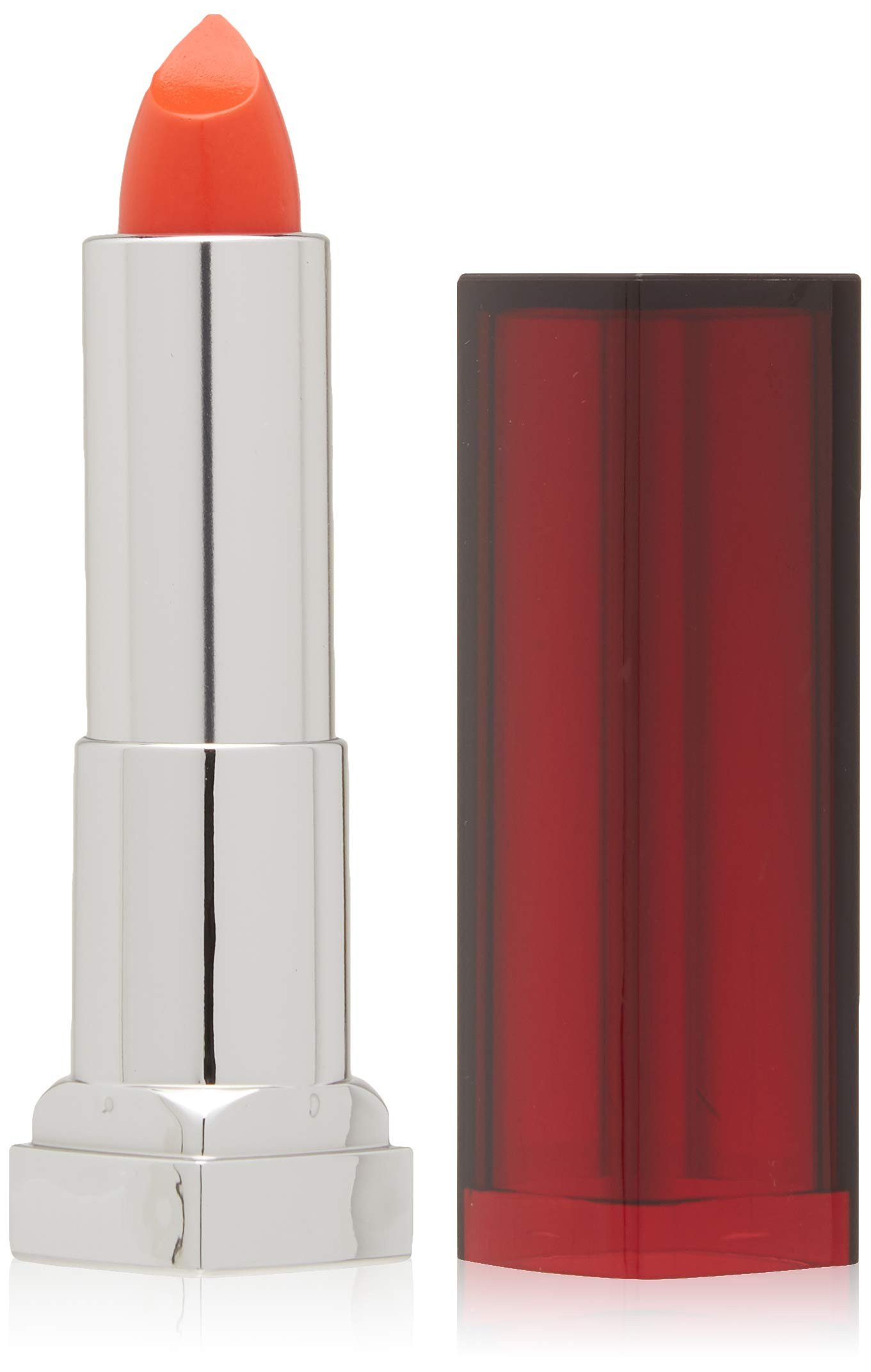 Maybelline New York Color Sensational Orange Lipstick, Satin Lipstick, Electric Orange, 0.15 oz,Pack of 1