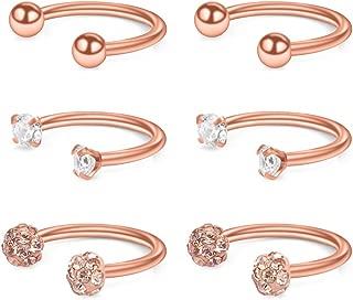 Best rose gold horseshoe earrings Reviews