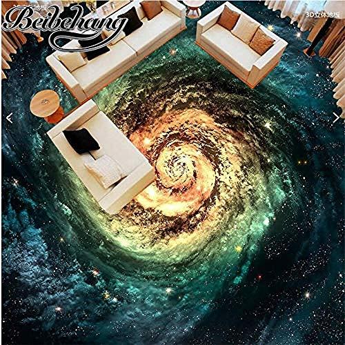 3D Hintergrundbild Wandbild Das Wohnzimmer des Raumes wird entsprechend der Breite der kosmischen Sternengalaxie Whirlpool 3D Bodenfliesen angepasstTapete, Vliestapete, Foto