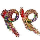 Resinta 100 Pieces Handmade Braided Bracelets Assorted Colors...