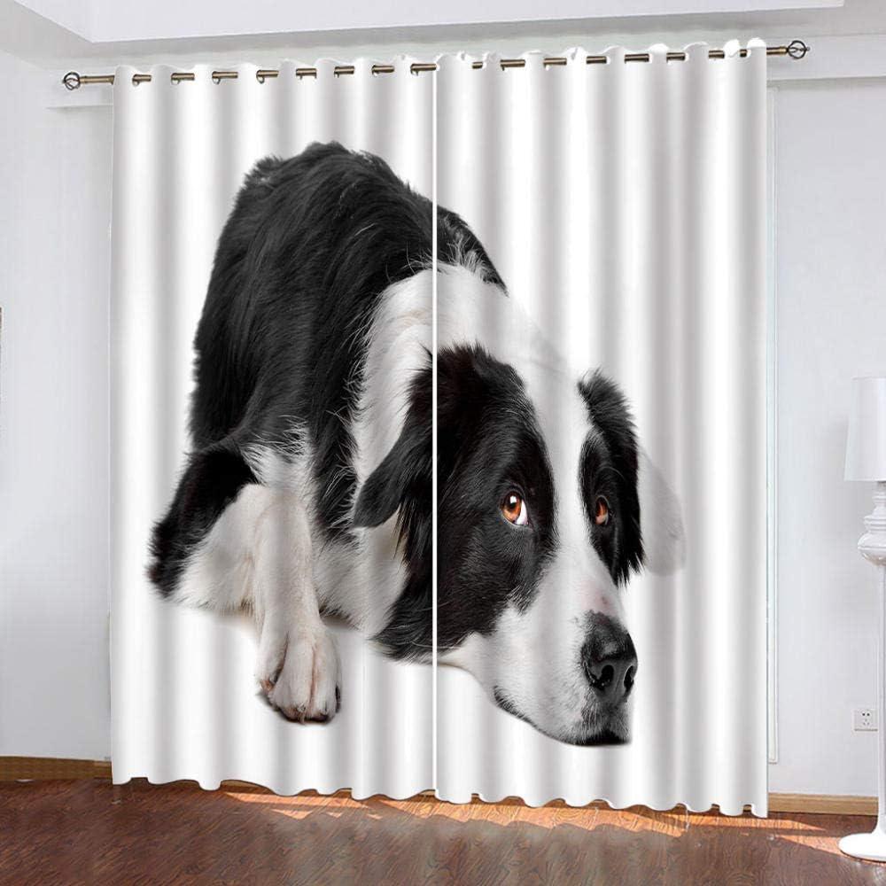 IZYLWZ Blackout Ranking TOP12 Curtains Creative Black Animal Sale item Roo Dog and White