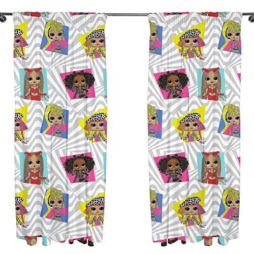 L.O.L Suprise! Offizielle Vorhänge | OMG Grey Buzz Kinderzimmer Vorhänge | Perfekt für jedes Kinderzimmer (137 cm), Mehrfarbig, LOLBUZ54001UK