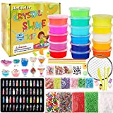 HOLICOLOR DIY Slime Kit for Boys Girls, Homemade Slime Making Supplies Slime Add Ins, Glitter, Shells, Slime Charms, Foam Balls Accessories for Slime Party