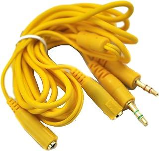 2 Plugs-2 Jacks Micrófono Cable de extensión de audio 3.5mm Cable para auriculares de juego de computadora Auriculares 150...