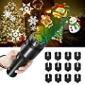NEXGADGET Christmas Projector Light, 12 Slides LED Decoration Light with Dynamic and Static Images for Holidays,Party and Birrhday