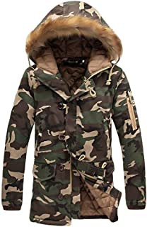 Targogo Camouflage Winter Jacket Mens Womens Coat Snow Lungo Casual Abbigliamento Esterno Vintage Tuta Sportiva Manica Lun...