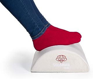 Reposapiés oficina, almohada cojín cilíndrico viscoelástico ergonómico apoya piernas y cervicales para dormir, sofá, salón o escritorio. Espuma memoria alta densidad funda suave antideslizante (GRIS)