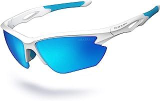 عینک آفتابی پلاریزه ورزشی مردانه زنانه دوچرخه سواری DEAFRAIN عینک آفتابی TR90 قاب نشکن محافظت در برابر اشعه ماورا UV بنفش