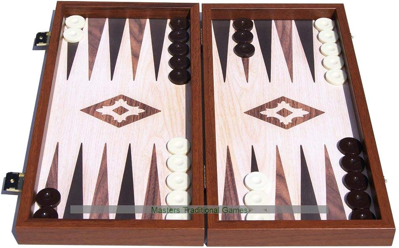 Venta barata Manopoulas Compact Compact Compact Oak Walnut Replica Backgammon Set  salida de fábrica