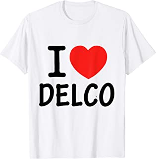 I Love Delco T-Shirt Delaware County Pennsylvania