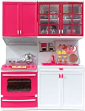 "Rvold Cute Girl Dream House Kitchen Set for Kids - 2 Station Play Kitchen Set Perfect for Use to Play with 11-12"" Tall Dolls Color May Vary"